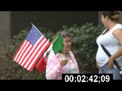 Thumbnail of Latina Woman Shows Allegiance to US and Mexico