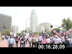 Thumbnail of Rights Marchers Pass City Hall